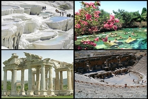 FROM IZMIR - EPHESUS & PAMUKKALE TOUR WITH ACCOMMODATION IN A THERMAL HOTEL